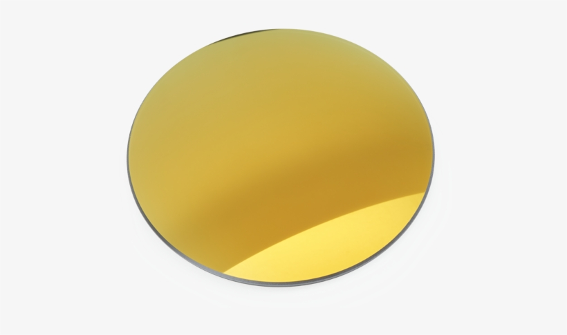 Sunrx Gray Full Gold Mirror - Circle, transparent png #2995999