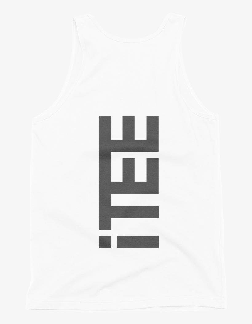 Itee White Vertical Logo Back Fine Jersey Tank - Men's Tank Top, White, transparent png #2998396