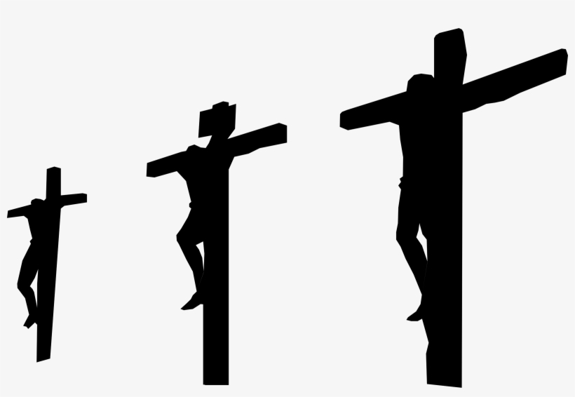 Silhouette Of Three Crosses At Getdrawings - Three Cross Png, transparent png #30070