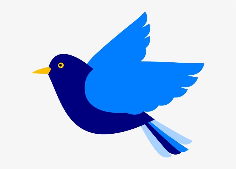 Blue Bird Left Clip Art At Clker Com Vector Online - Clip Art Blue Bird, transparent png #30311