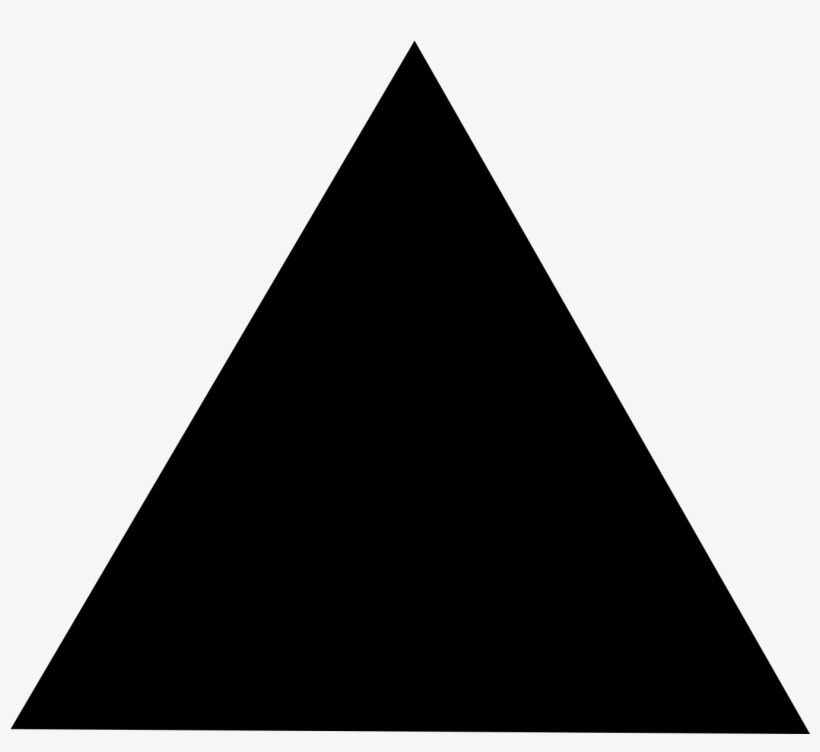 Black Triangle Png - Black Triangle No Background - Free Transparent