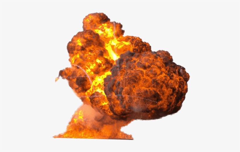 Free Png Big Explosion With Fire And Smoke Png Images - Explosion Png, transparent png #30954