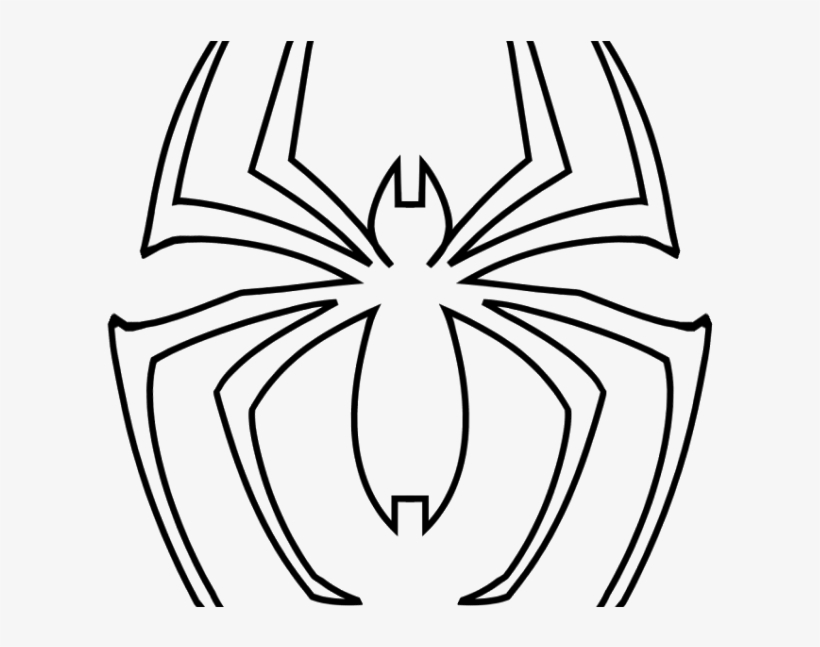 Spiderman Spider Logo Outline For Pumpkin Carving   Araña De
