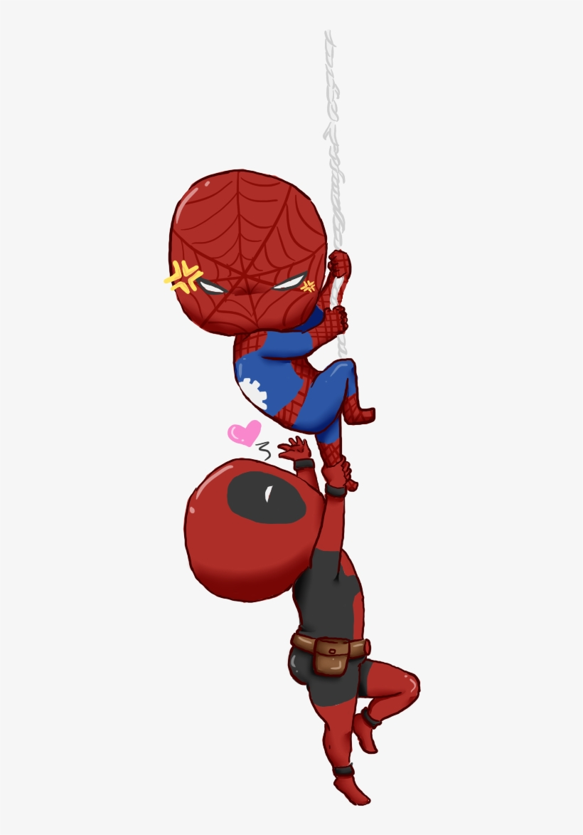 Chibi Deadpool And Spiderman - Spiderman And Deadpool ...
