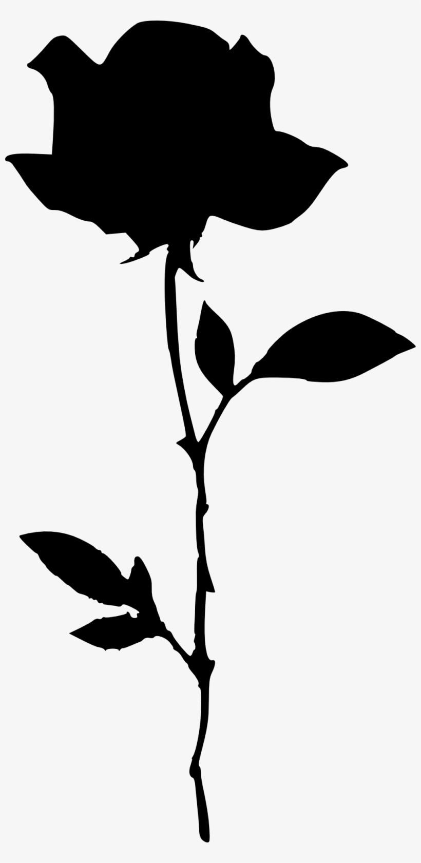 Png File Size - Flower Silhouette Transparent Background, transparent png #31909