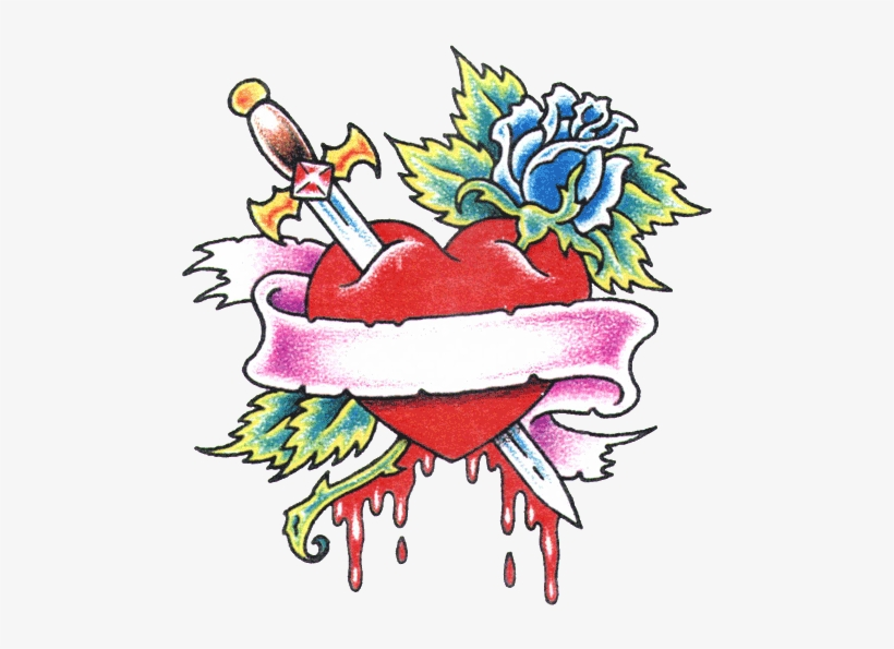 4386a3dd7b5a9 Rose Heart With Banner Tattoo Design Photo - Rose And Heart Tattoo Designs