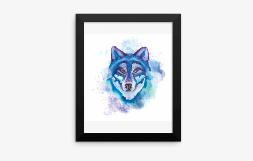 Watercolor Wolf Framed Photo Paper Poster - Watercolor Painting Of A Purple Ather Flip Phone Case, transparent png #32377