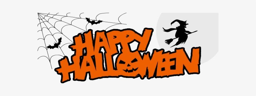 Happy Halloween Banner - Happy Halloween Png, transparent png #32424