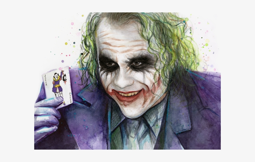 Click And Drag To Re-position The Image, If Desired - Joker Watercolor, transparent png #32448