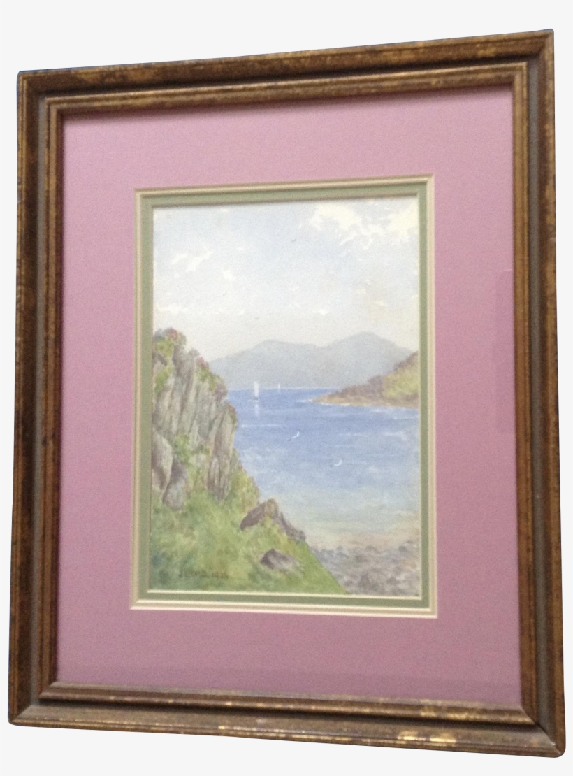 Ord, Impressionist Landscape Scottish Loch With Sail - Watercolor Painting, transparent png #32720