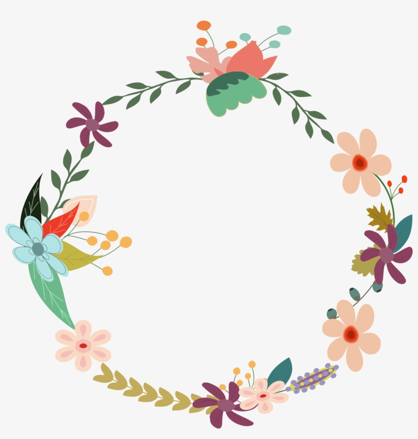 Vintage Floral Wreath By @gdj, From Pdp, With Love - Vector Floral Vintage Png, transparent png #32959