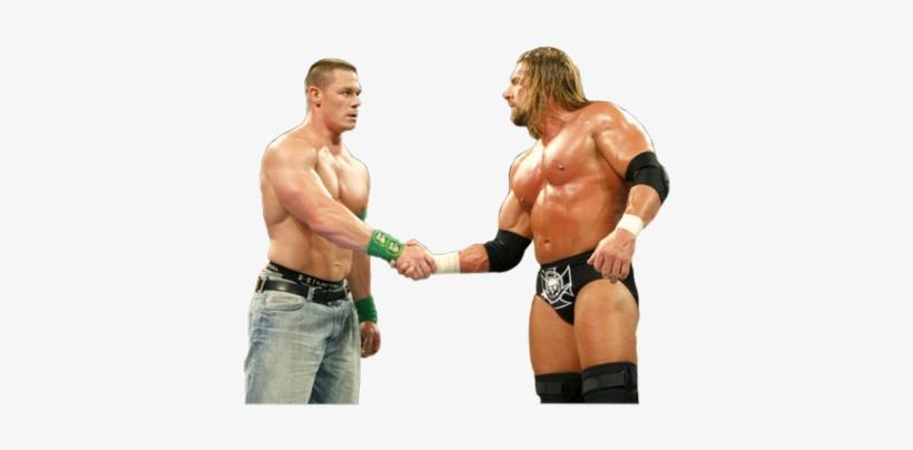 John Cena Triple H Psd32828 - Wwe Triple H And John Cena, transparent png #33233