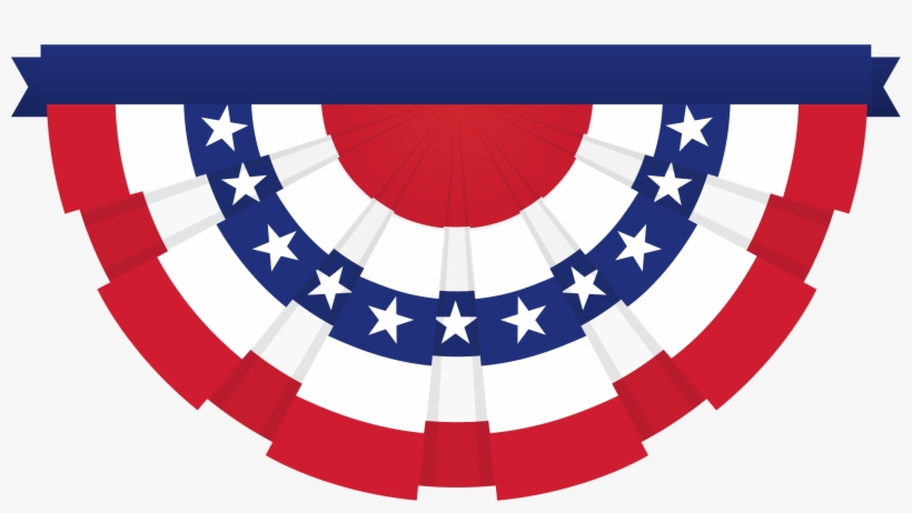Clipart American Flag Bunting Png Transpa 33498