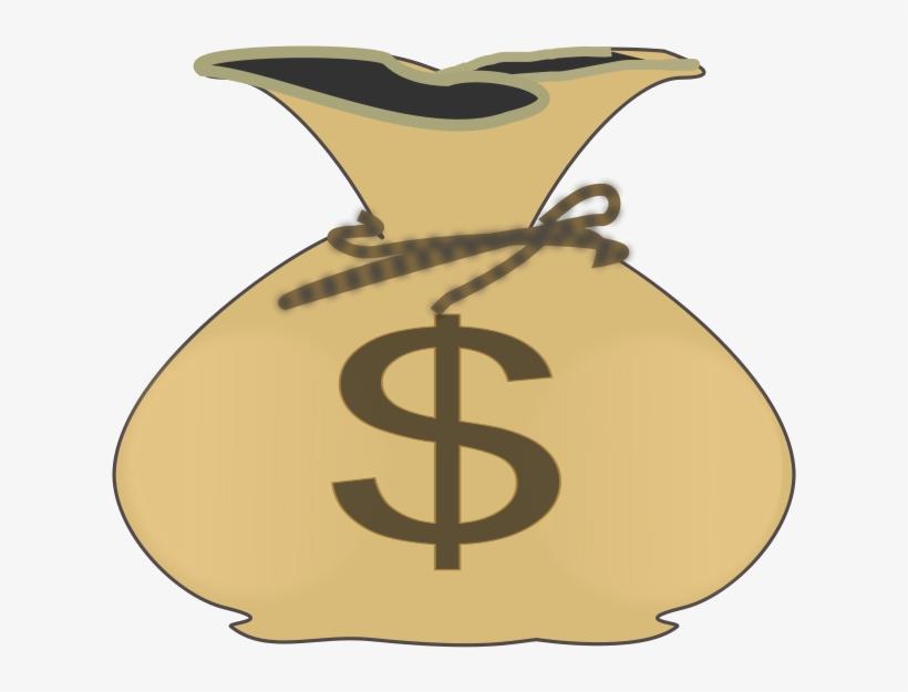 Graphic Download Clip Art At Clker Com Vector Online - Cartoon Money Bag Png, transparent png #34024