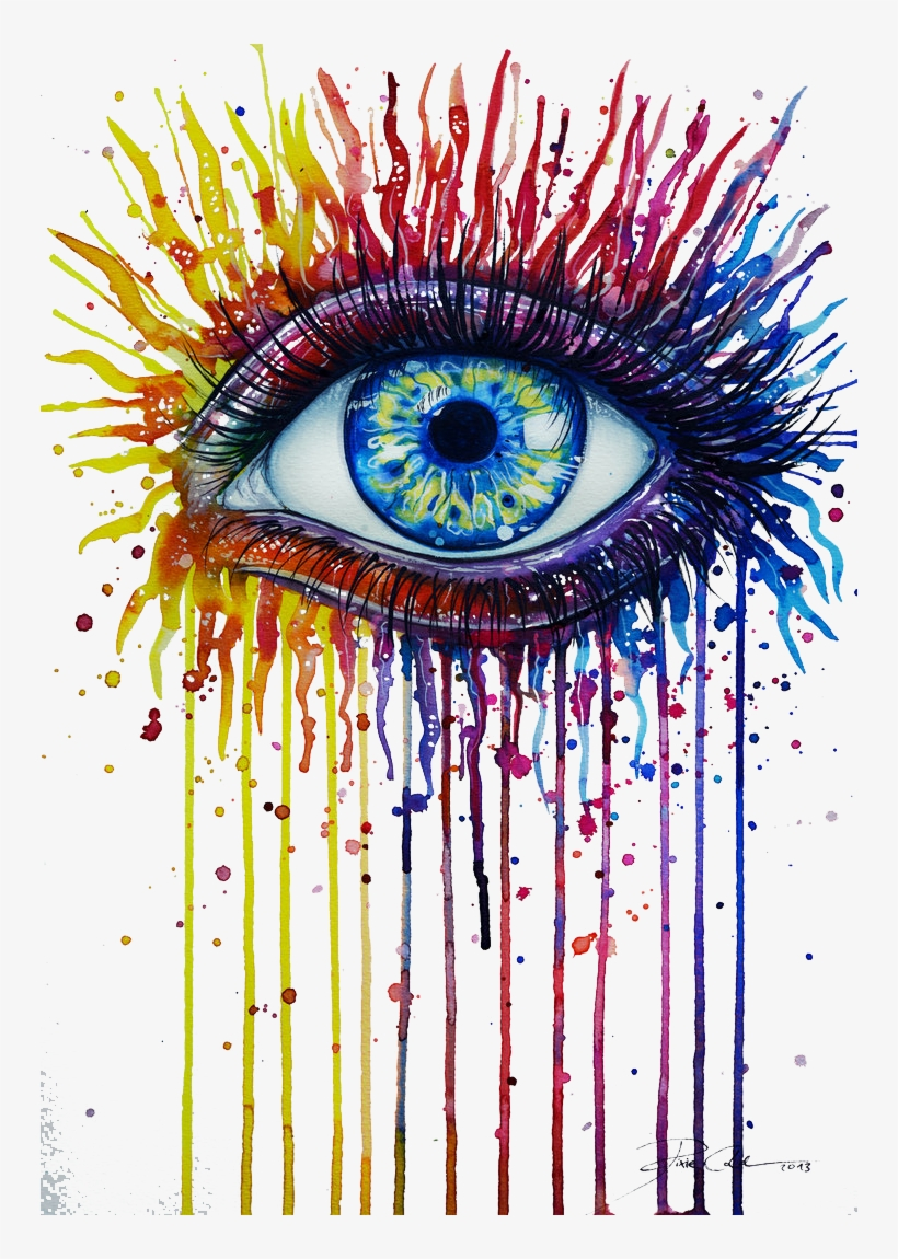 Watercolor Painting Eye Drawing Art - Drawing That Describes You, transparent png #34184