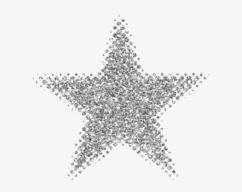 Silver Clipart Silver Glitter Star - Silver Glitter Star Png, transparent png #34228