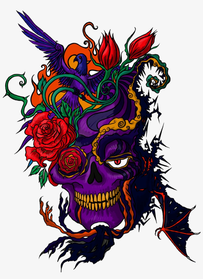Color Tattoo Png Picsart Png Download Free Photoshop - Colored Tattoo Png, transparent png #34322