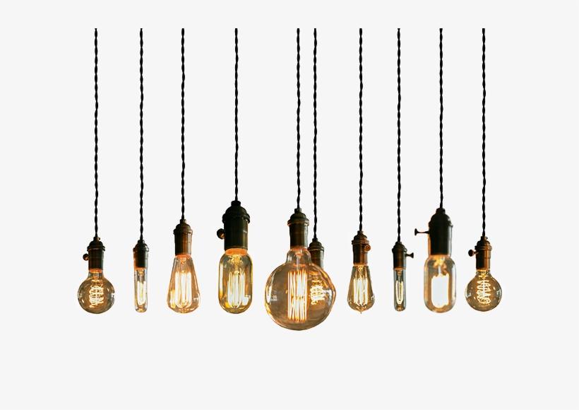 Vector Black And White Light Lights Lightbulb Tumblr - Light Bulb String Png, transparent png #35030