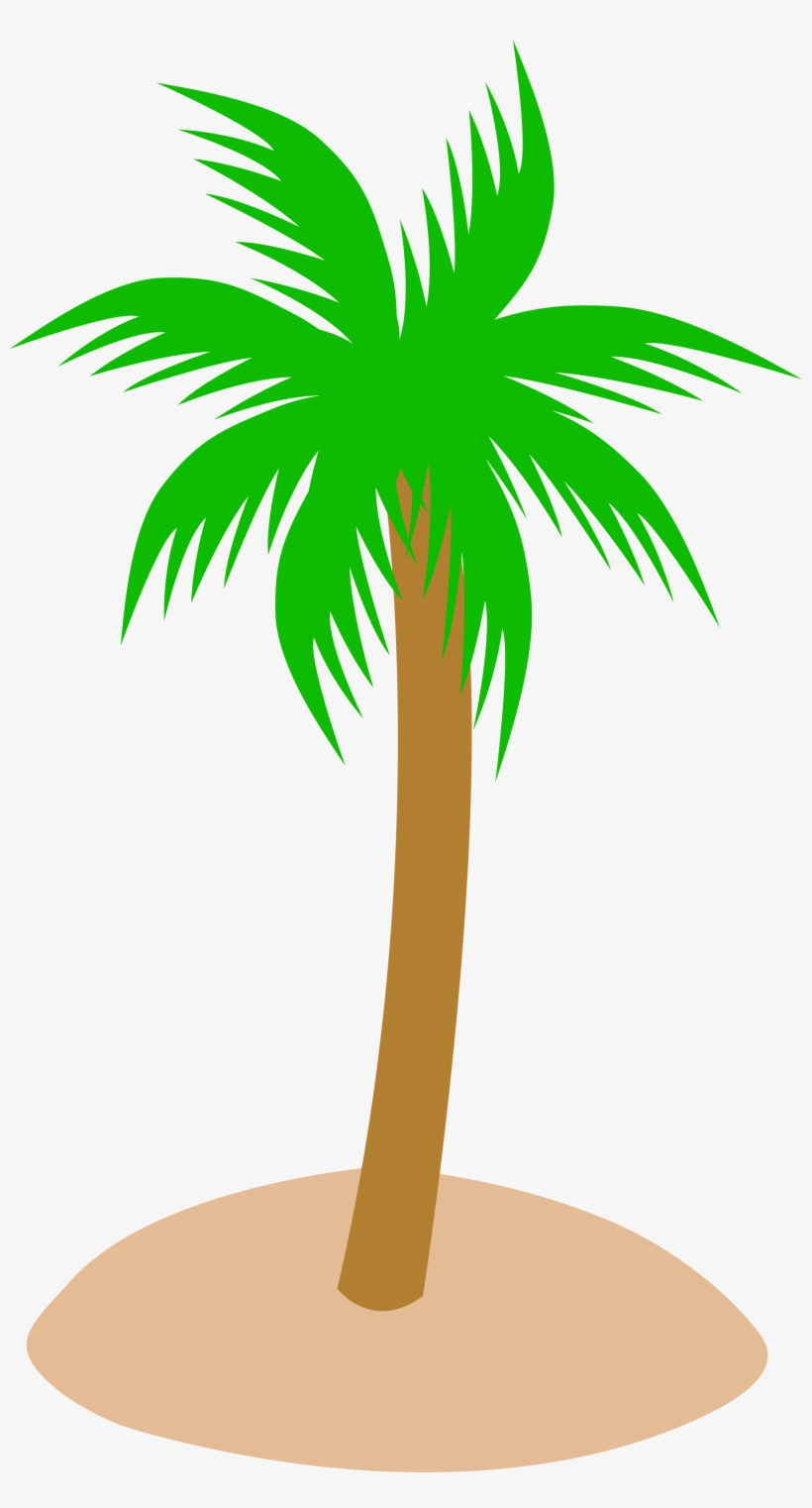 Single Clipart Coconut Tree - Palm Tree No Background, transparent png #35217