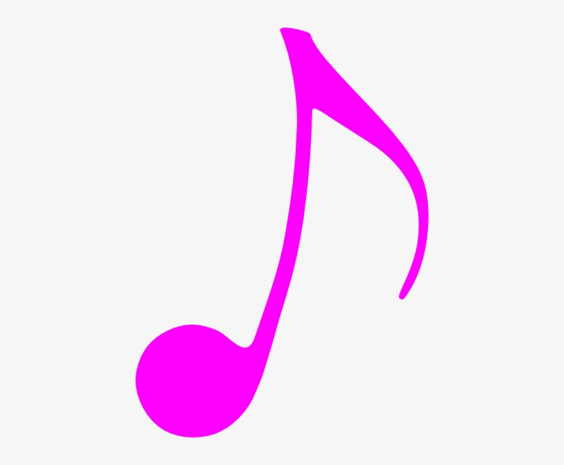 Pink Music Note Clip Art - Colourful Single Music Notes, transparent png #36031