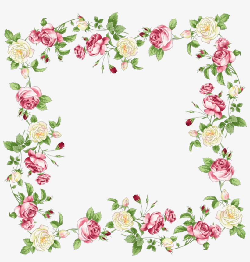 Flowers Borders Png Transparent Flowers Borders - Wedding Flowers Frame Png, transparent png #36196