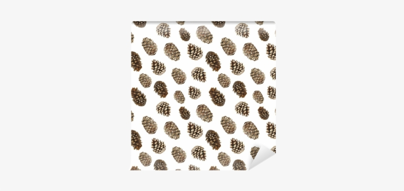 Watercolor Pattern Of Pine Cones, Christmas Trees And - Christmas Day, transparent png #36276