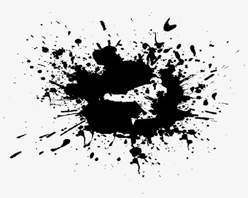 Black Paint Splash Png Clip Royalty Free Stock - Broken Heart Black And White, transparent png #36316