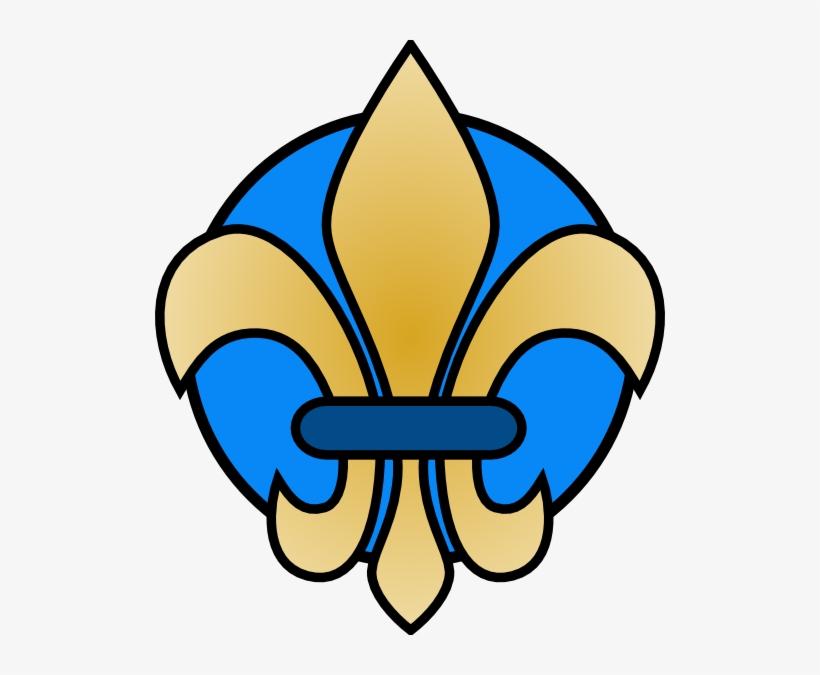 Free Vector Fleur De Lis Gold Clip Art - Fleur De Lis Yellow And Blue, transparent png #36525
