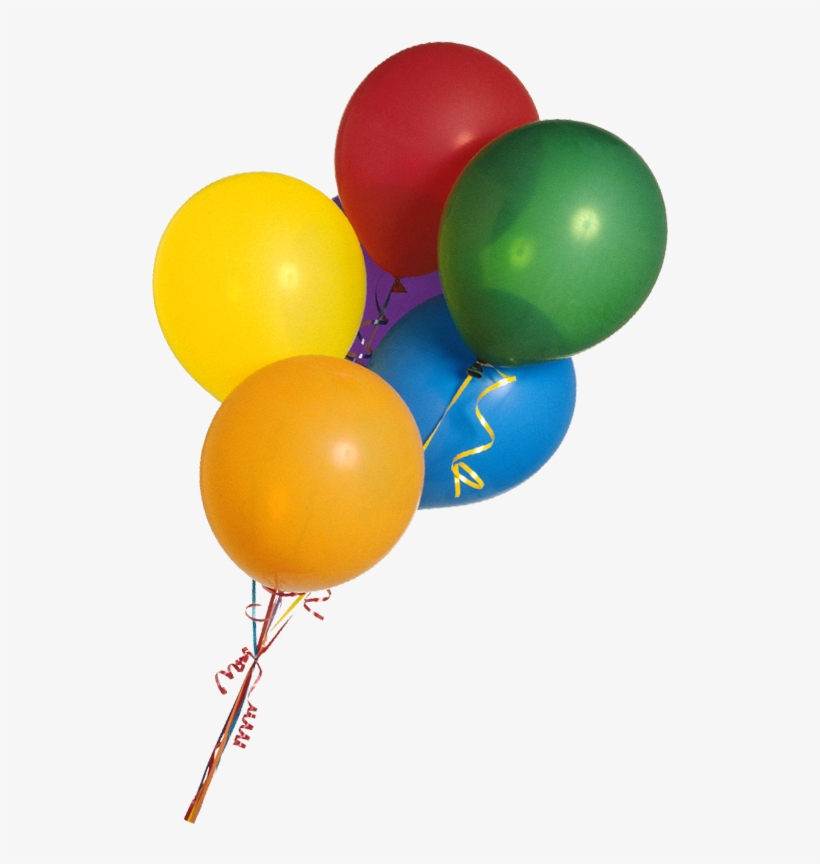 Colorful Balloon Bunch Png Clipart Imageu200b - Real Balloon Png, transparent png #36548