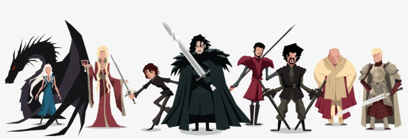 Game Of Thrones - Game Of Thrones Characters Cartoon, transparent png #36639