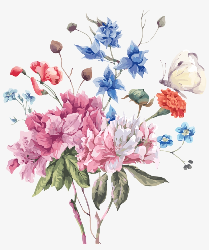 Flower Stock Photography Illustration - Flower Bouquet Illustration, transparent png #36657