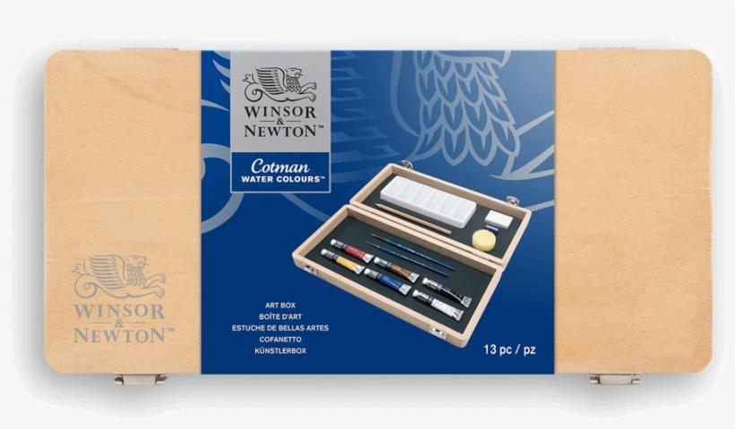 Winsor & Newton Cotman Watercolor Small Wood Box Set - Winsor & Newton W&n Winton Small Art Box, transparent png #36704