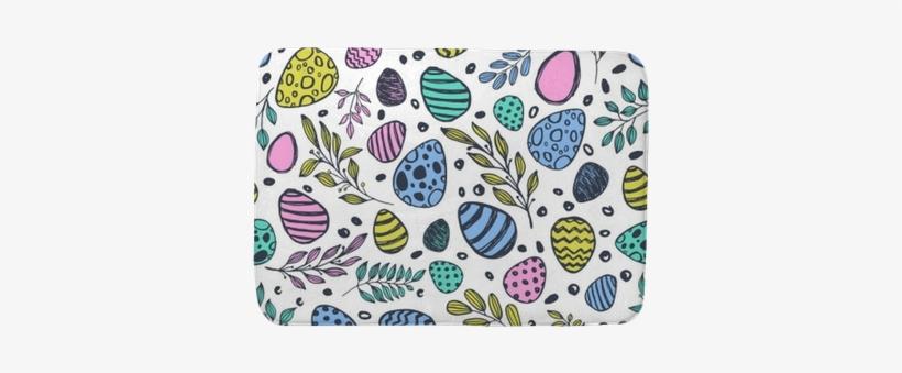 Vector Doodle Easter Seamless Pattern - Easter, transparent png #37366