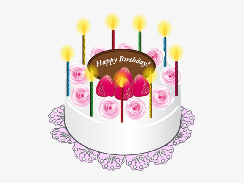 Happy Birthday Clip Art, Happy Birthday Celebration, - Happy Birthday Cake Png, transparent png #37746