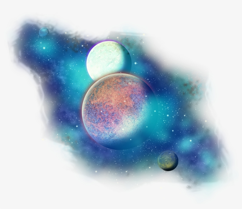 Freetoedit Clipart Stars Galaxy - Transparent Background Planet Png, transparent png #37893