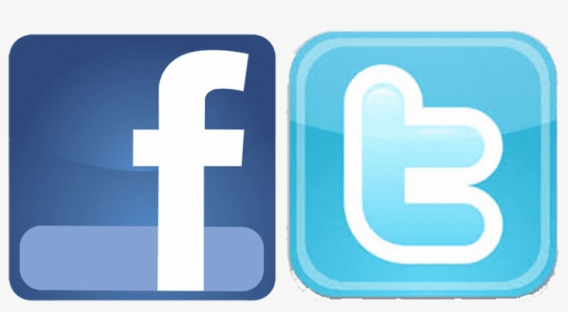 Facebook Logo And Twitter Logo Png Transparent Jpg - Facebook Y Twitter Jpg, transparent png #37916
