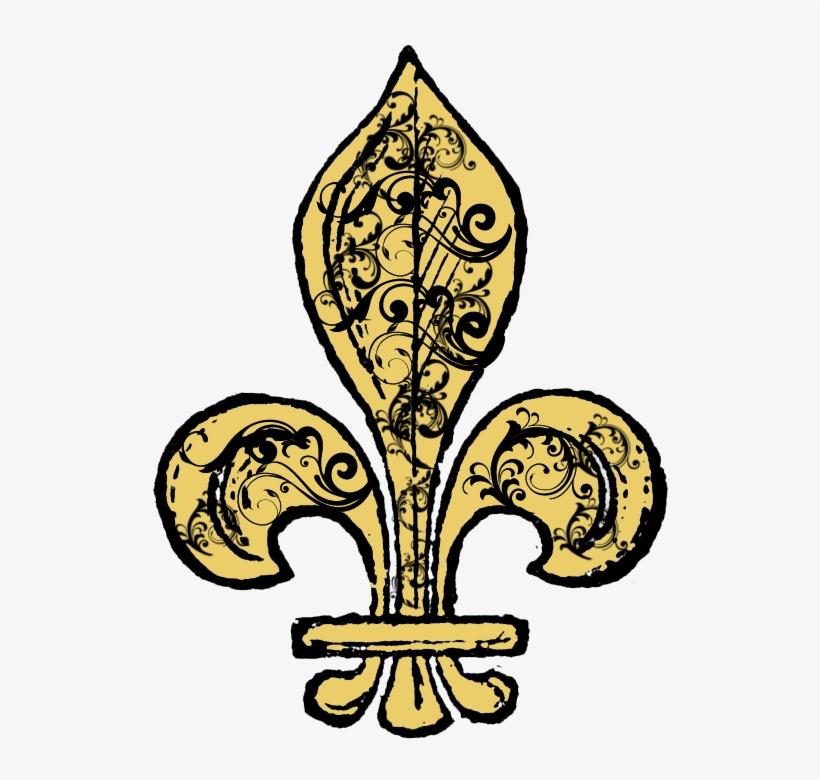 Free Fleur De Lis Digi Stamp Printable - Fleur De Lis Clip Art, transparent png #38107