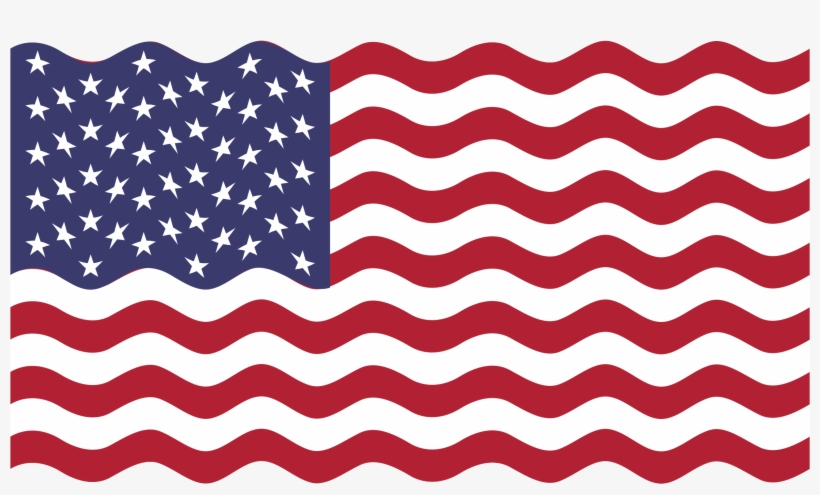 Wavy American Flag Png Download - Wavy American Flag Svg