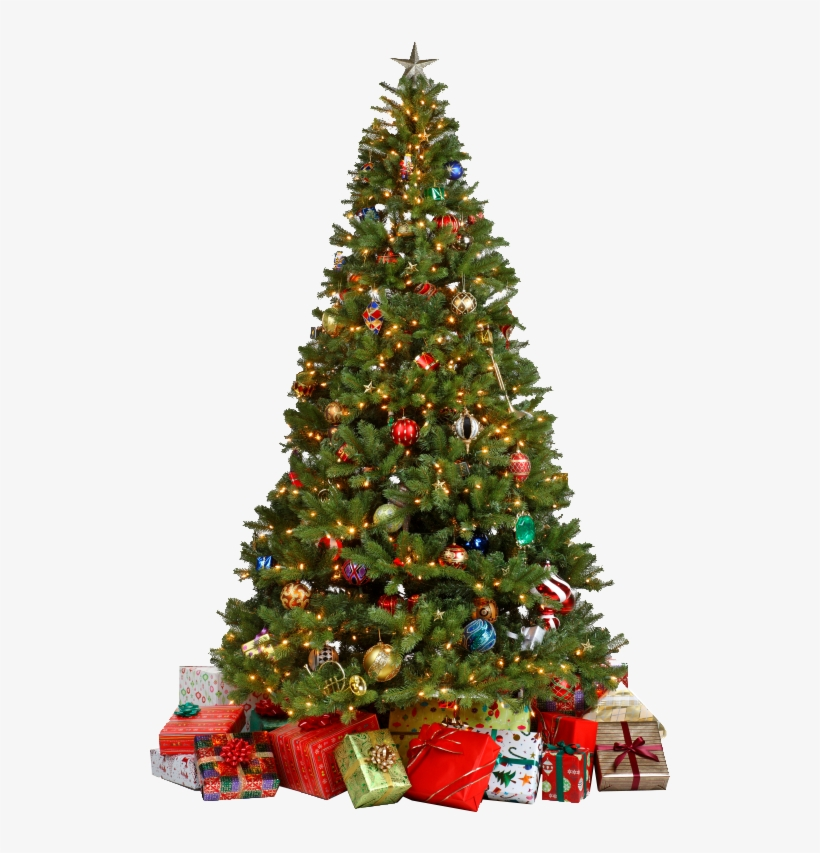Christmas Tree Png - Decorated Christmas Tree Png, transparent png #38227