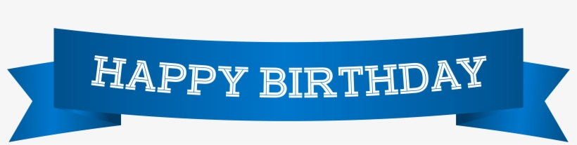 Banner Png Clip Art Image Gallery Is - Happy Birthday Banner Blue, transparent png #38322