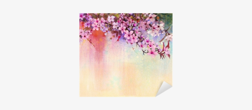 Watercolor Painting Cherry Blossoms - Painting Of Cherry Blossom, transparent png #38716