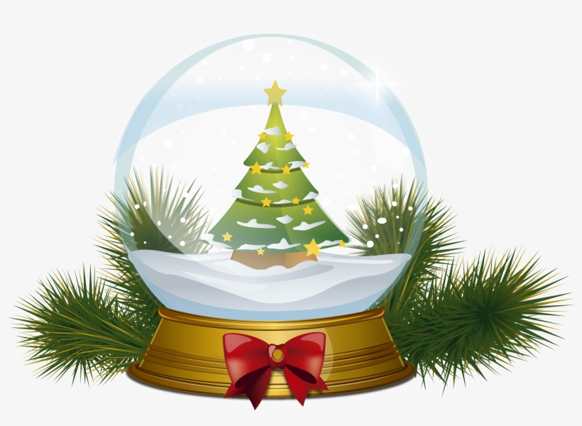 Christmas Tree Snowglobe Png Clipart Image - Christmas Snow Globe Png, transparent png #39146