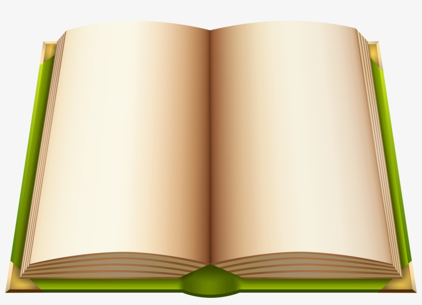 Green Open Book Png Clipart - Open Books Images Png, transparent png #39232