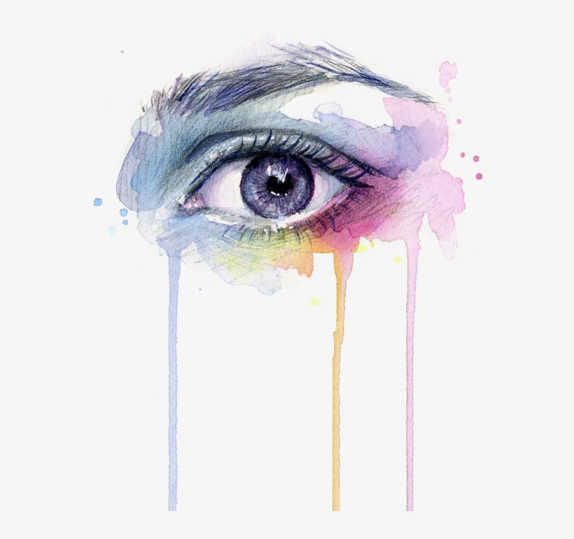 Dripping Drawing Eye - Eye Painting, transparent png #39272