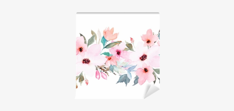 Watercolor Floral Template For Wedding Cards, Invitations, - Watercolor Floral Template, transparent png #39571
