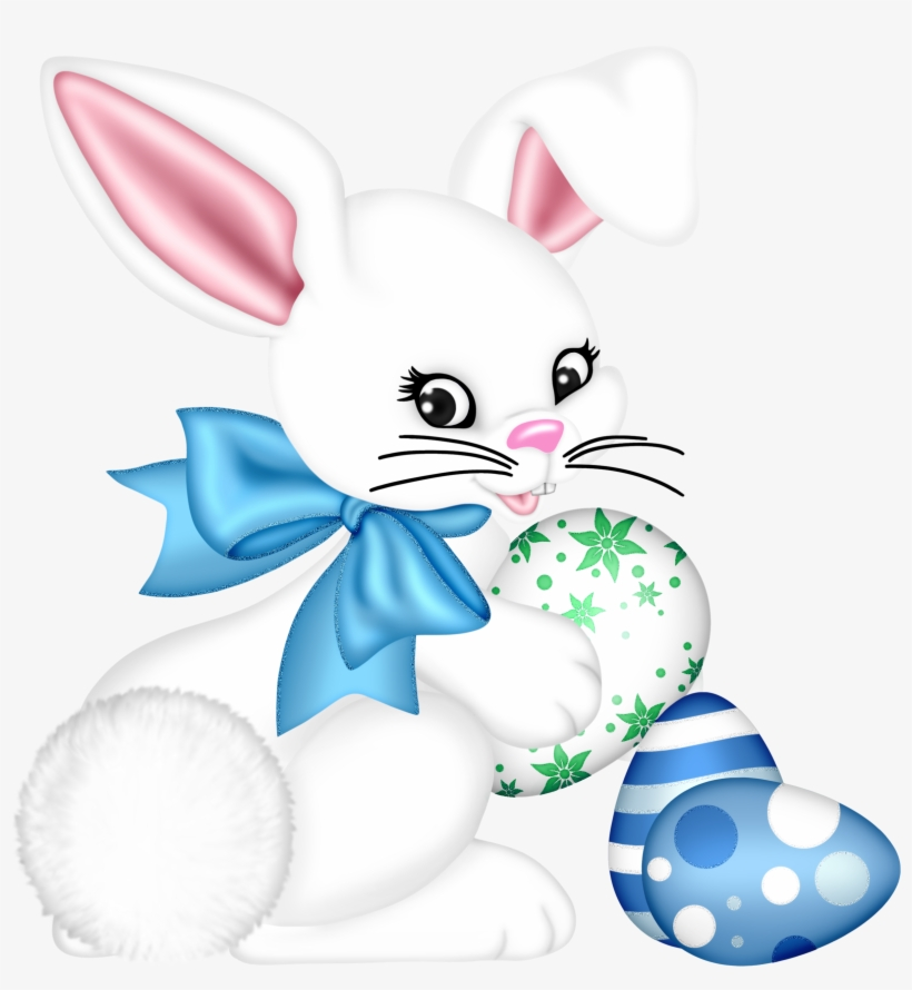 Transparent Easter Bunny And Egg Png Clipart Picture - Easter Bunny, transparent png #300472
