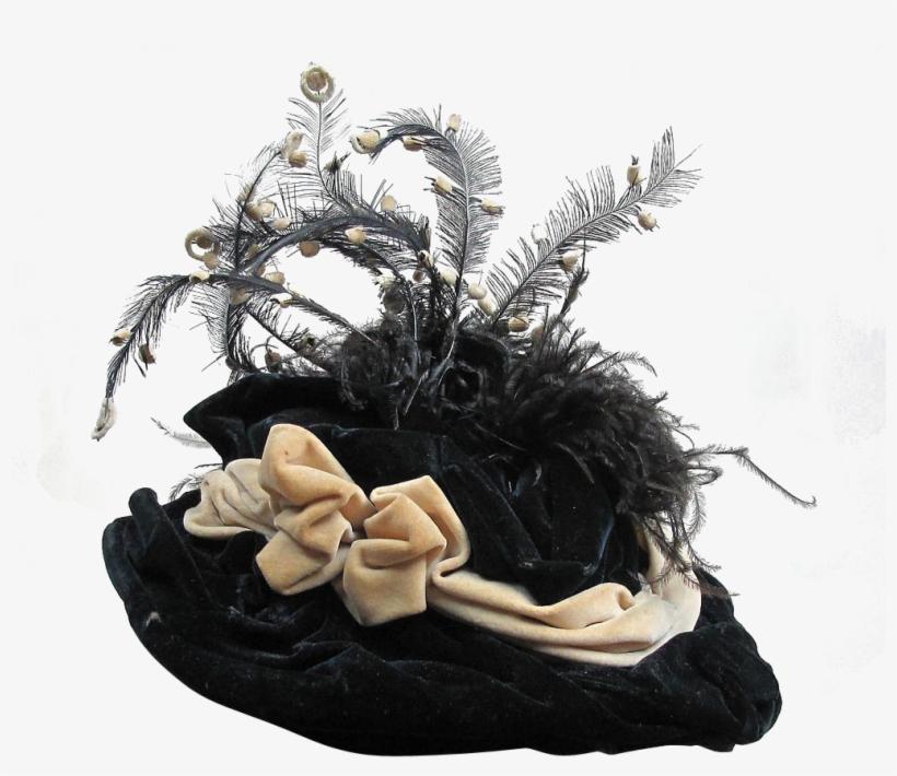 Victorian Era Party Hat Bonnet Fascinator - Victorian Hats Transparent Background, transparent png #300790