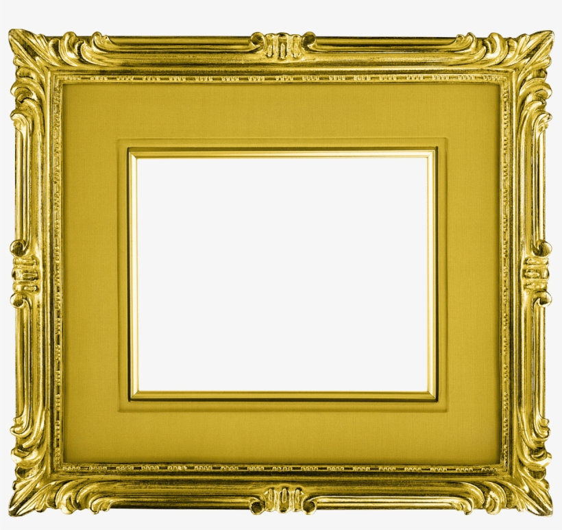 Gold Frame Landscape - Transparent Gold Picture Frame, transparent png #301438