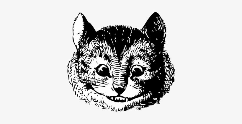 Cheshire Cat Alice's Adventures In Wonderland White - Alice In Wonderland Original Illustrations Cheshire, transparent png #302352