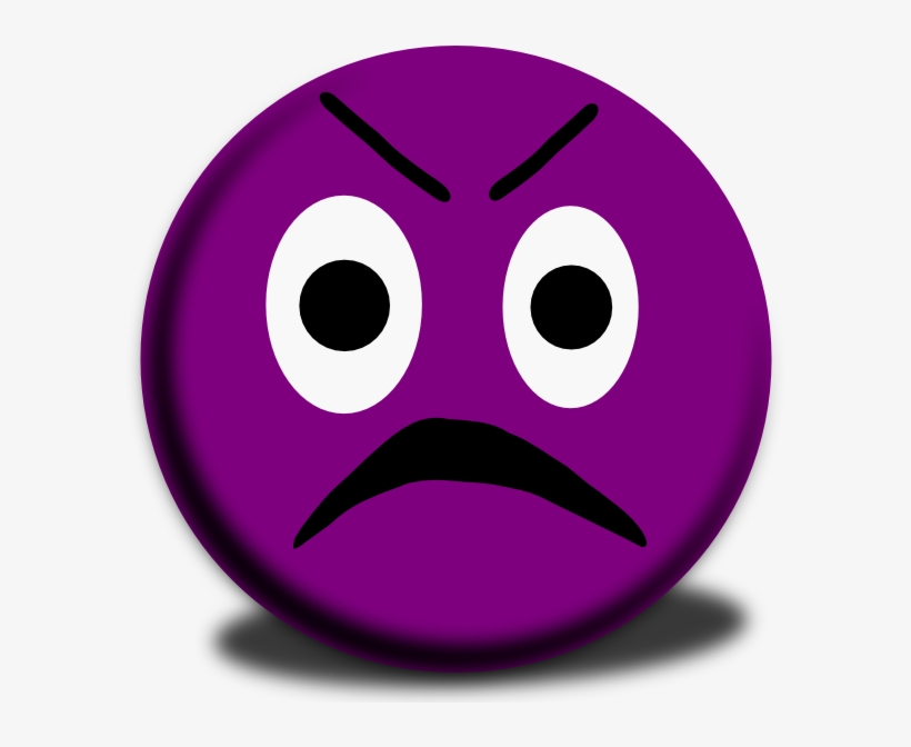 Purple Angry Face Emoji Free Transparent Png Download Pngkey